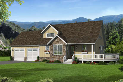 3 Bed, 2 Bath, 1854 Square Foot House Plan #940-00153