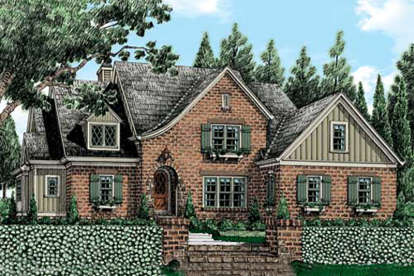 5 Bed, 4 Bath, 3700 Square Foot House Plan - #8594-00060