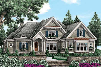 5 Bed, 4 Bath, 3710 Square Foot House Plan - #8594-00061