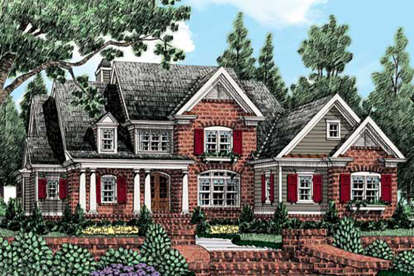 5 Bed, 4 Bath, 3710 Square Foot House Plan - #8594-00062