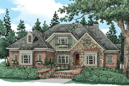5 Bed, 5 Bath, 3942 Square Foot House Plan - #8594-00066