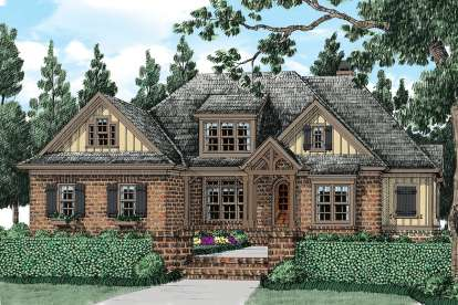5 Bed, 5 Bath, 3954 Square Foot House Plan - #8594-00067