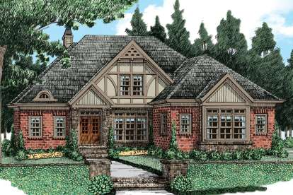 4 Bed, 3 Bath, 2339 Square Foot House Plan #8594-00075