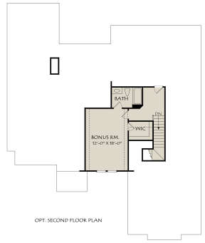 Optional Second Floor for House Plan #8594-00075