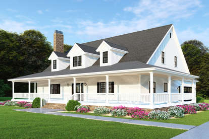 3 Bed, 2 Bath, 2711 Square Foot House Plan - #8318-00110