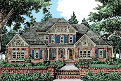 5 Bed, 4 Bath, 4036 Square Foot House Plan #8594-00116