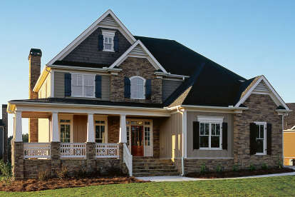 4 Bed, 2 Bath, 2443 Square Foot House Plan #8594-00141