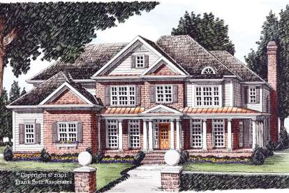 5 Bed, 4 Bath, 3843 Square Foot House Plan - #8594-00152
