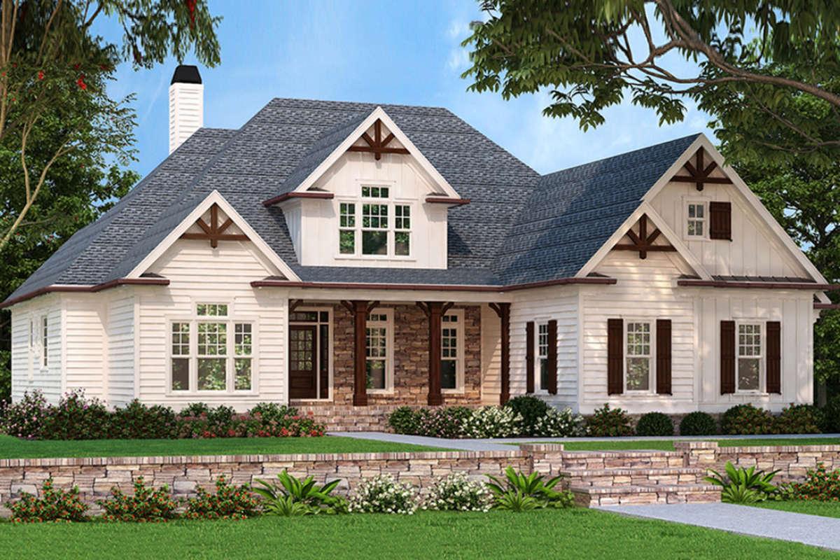 Craftsman Plan: 2,400 Square Feet, 3-4 Bedrooms, 2.5