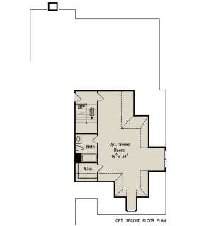 Optional Second Floor for House Plan #8594-00161