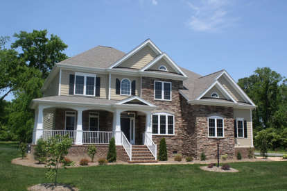 5 Bed, 4 Bath, 3162 Square Foot House Plan - #8594-00169