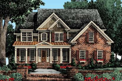 5 Bed, 3 Bath, 2717 Square Foot House Plan - #8594-00171