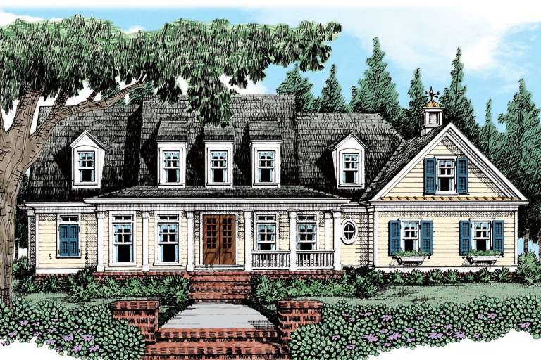 Country House Plan #8594-00176 Elevation Photo
