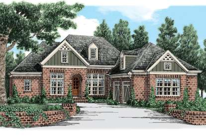 4 Bed, 3 Bath, 3556 Square Foot House Plan - #8594-00181