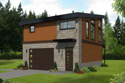 1 Bed, 1 Bath, 825 Square Foot House Plan #940-00156