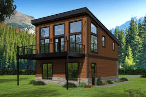 Modern  House Plan #940-00156 Elevation Photo