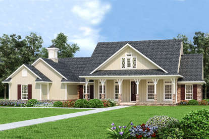 3 Bed, 2 Bath, 2006 Square Foot House Plan #048-00268