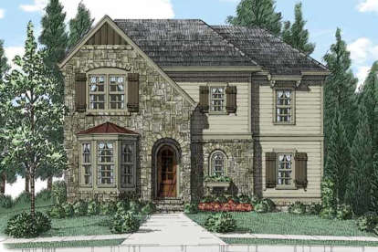 4 Bed, 3 Bath, 2801 Square Foot House Plan - #8594-00185