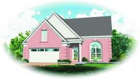French Country House Plan #053-00052 Elevation Photo