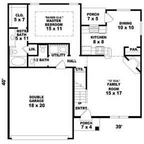 First Floor for House Plan #053-00052