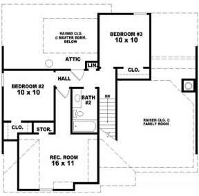 Second Floor for House Plan #053-00052