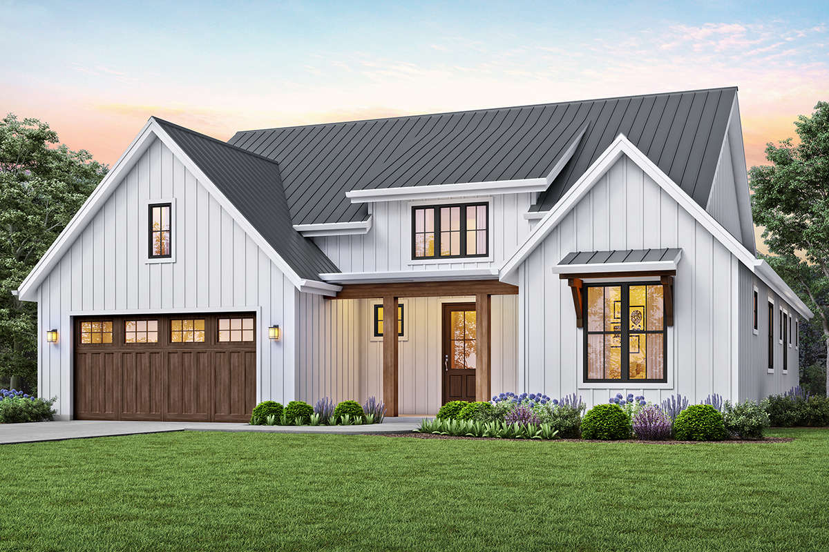 Modern Farmhouse Plan: 1,878 Square Feet, 3 Bedrooms, 2 ...