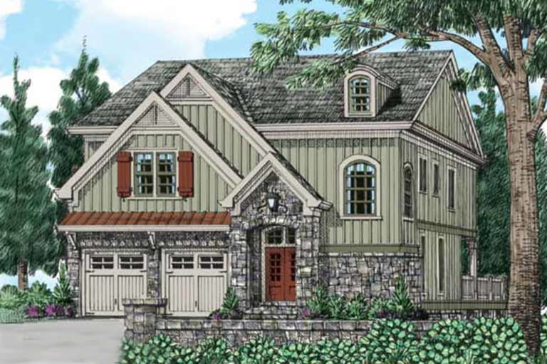 European House Plan #8594-00208 Elevation Photo