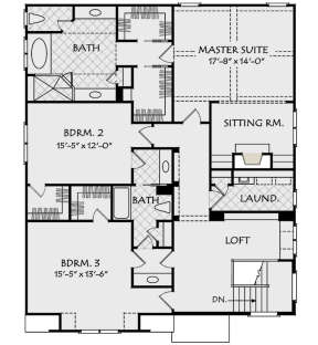 Second Floor for House Plan #8594-00208