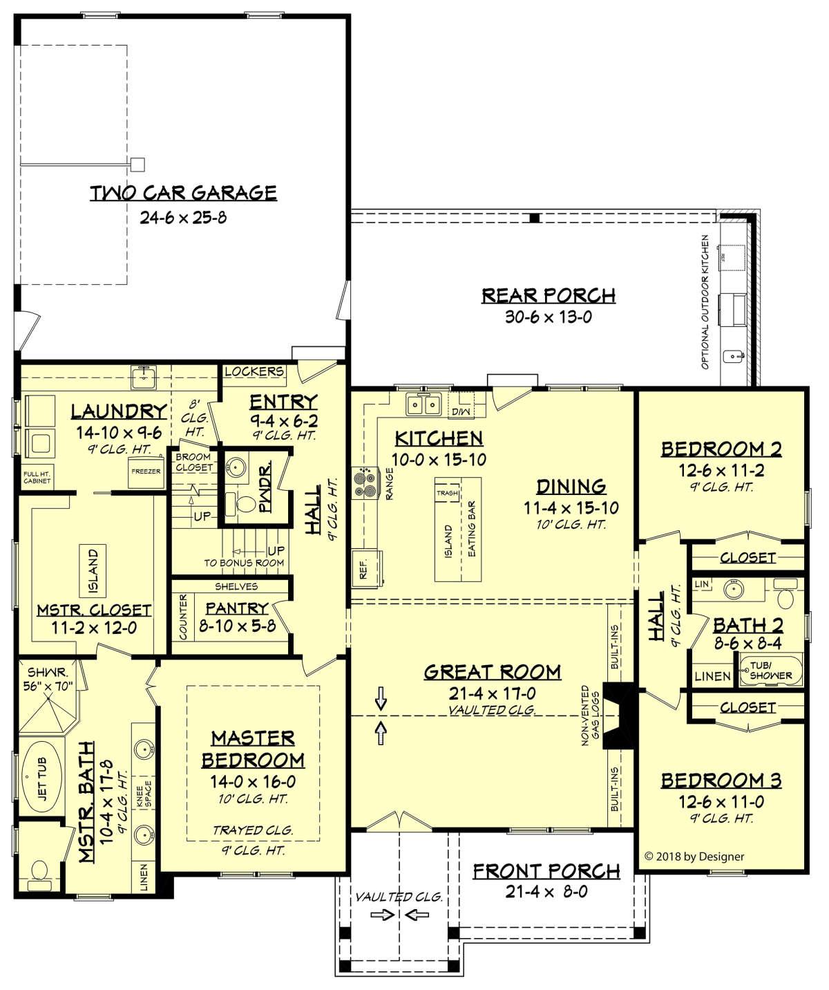 Modern Farmhouse Plan 2 201 Square Feet 3 Bedrooms 2 5 Bathrooms 041 00190