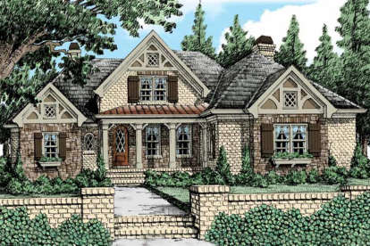 3 Bed, 2 Bath, 2681 Square Foot House Plan - #8594-00236