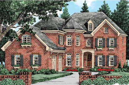 5 Bed, 4 Bath, 3324 Square Foot House Plan - #8594-00241