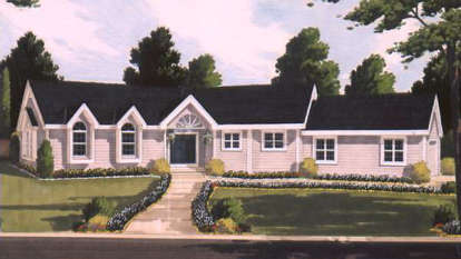 3 Bed, 2 Bath, 1636 Square Foot House Plan - #033-00026