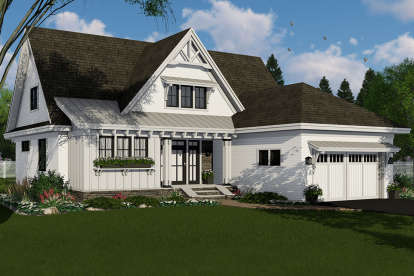 4 Bed, 3 Bath, 2584 Square Foot House Plan - #098-00314