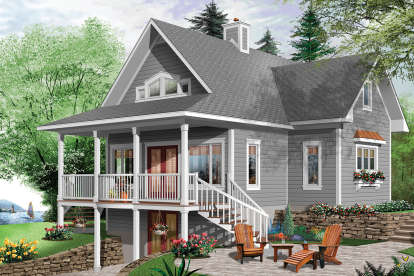 2 Bed, 2 Bath, 1573 Square Foot House Plan - #034-01157