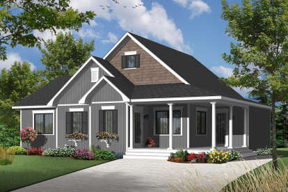 2 Bed, 1 Bath, 1620 Square Foot House Plan - #034-01158