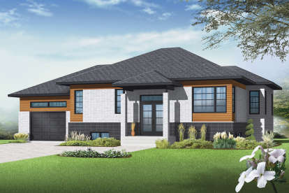 2 Bed, 1 Bath, 1223 Square Foot House Plan - #034-01160