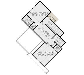 Second Floor for House Plan #699-00187