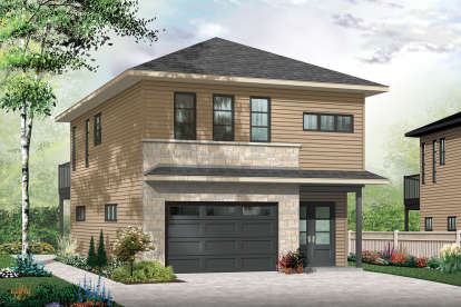 2 Bed, 1 Bath, 1042 Square Foot House Plan - #034-01198