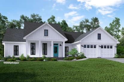 3 Bed, 2 Bath, 1745 Square Foot House Plan - #041-00191