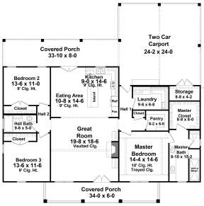 Main Floor for House Plan #348-00285