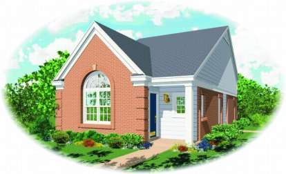 2 Bed, 2 Bath, 1057 Square Foot House Plan - #053-00063