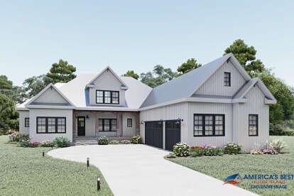 3 Bed, 2 Bath, 3475 Square Foot House Plan #6849-00075