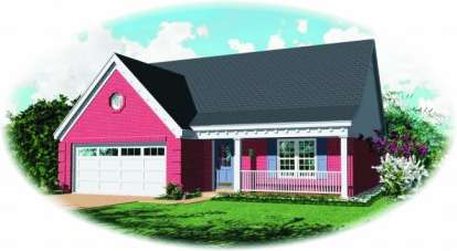 3 Bed, 2 Bath, 1473 Square Foot House Plan - #053-00067