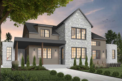 4 Bed, 3 Bath, 3175 Square Foot House Plan - #034-01207