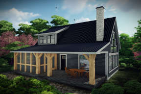 Cabin House Plan #1020-00321 Elevation Photo