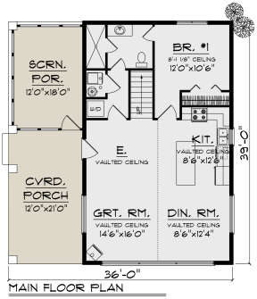 Main Floor for House Plan #1020-00321