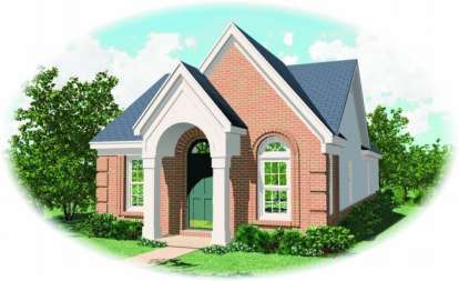 3 Bed, 2 Bath, 1185 Square Foot House Plan - #053-00086