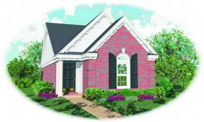 2 Bed, 2 Bath, 1162 Square Foot House Plan - #053-00088