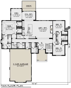 Main Floor for House Plan #1020-00337