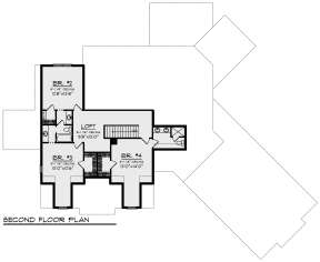 Second Floor for House Plan #1020-00340